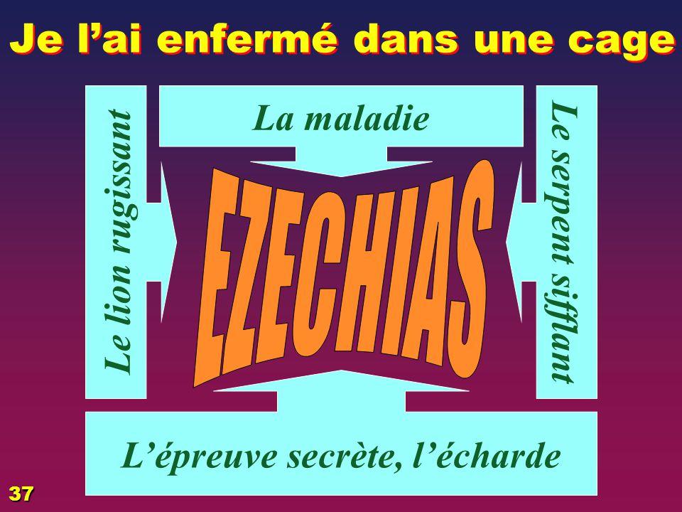 EZECHIAZ, l'épreuve L'attaque 1 L'attaque L'opposition brutale venant de l'extérieur:Touche à ses biens … La maladie 2 La maladie Touche à son corps …