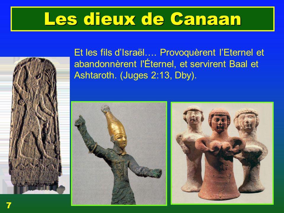 dieux de Canaan=dieux d'Israël Et les fils d'Israël….