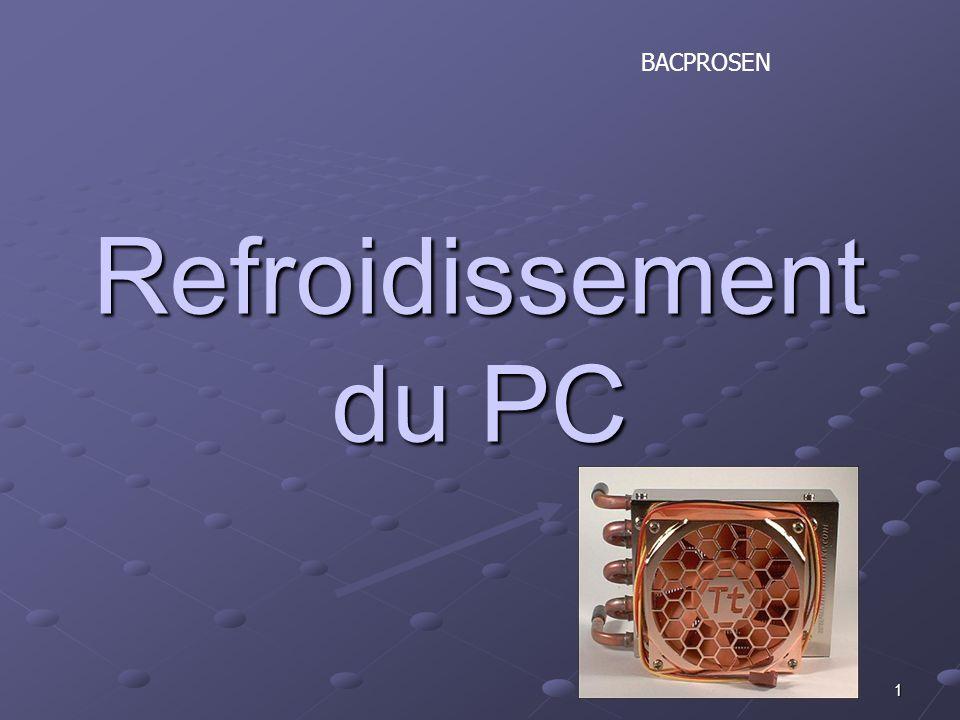 1 Refroidissement du PC BACPROSEN