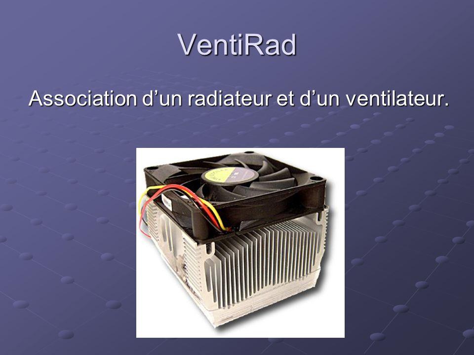 VentiRad Association d'un radiateur et d'un ventilateur.