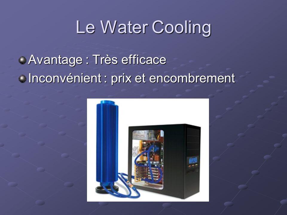 Le Water Cooling Avantage : Très efficace Inconvénient : prix et encombrement