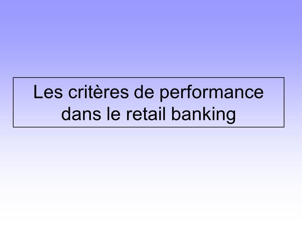 La finalité de la Banque est la même que toute entreprise : l'accroissement des profits L'augmentation du P.N.B.La maîtrise des coûts qui se reflètent dans : -les critères relatifs aux canaux de distribution -les critères relatifs à la gestion clients -les critères relatifs à la maîtrise des coûts opératoires