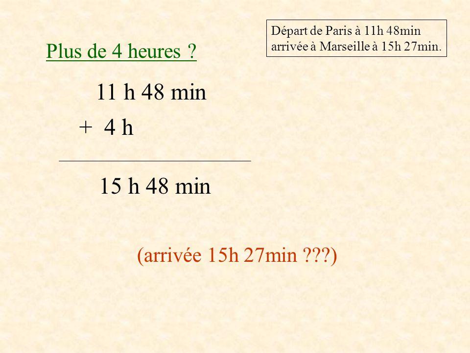 2ème façon Heure d'arrivée : 15h 27 min Heure de départ : 11h 48 min Opération .