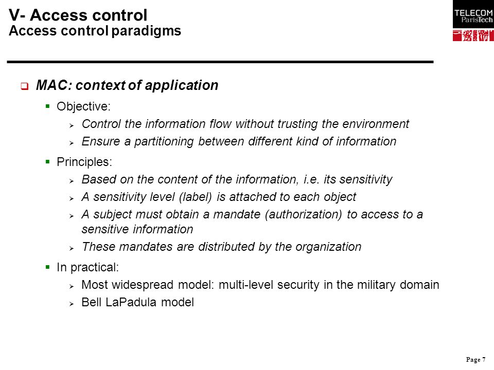 Page 18 IV- Fonctions de sécurité 2.
