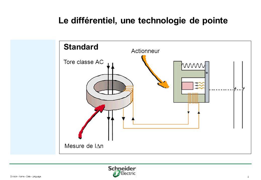 Division - Name - Date - Language 2 Le différentiel, une technologie de pointe Standard Actionneur Mesure de I  n Tore classe AC