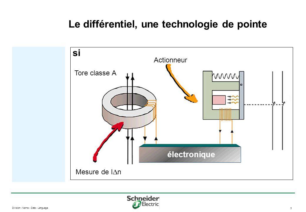 Division - Name - Date - Language 3 Le différentiel, une technologie de pointe électronique si Actionneur Mesure de I  n Tore classe A