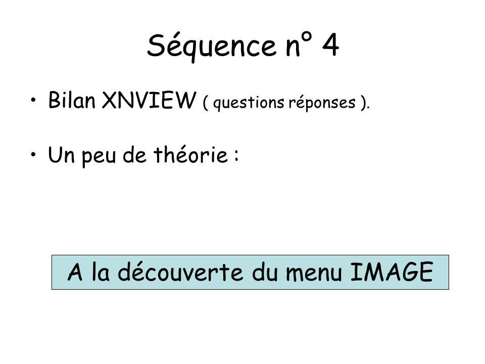 Séquence n° 4 Bilan XNVIEW ( questions réponses ).