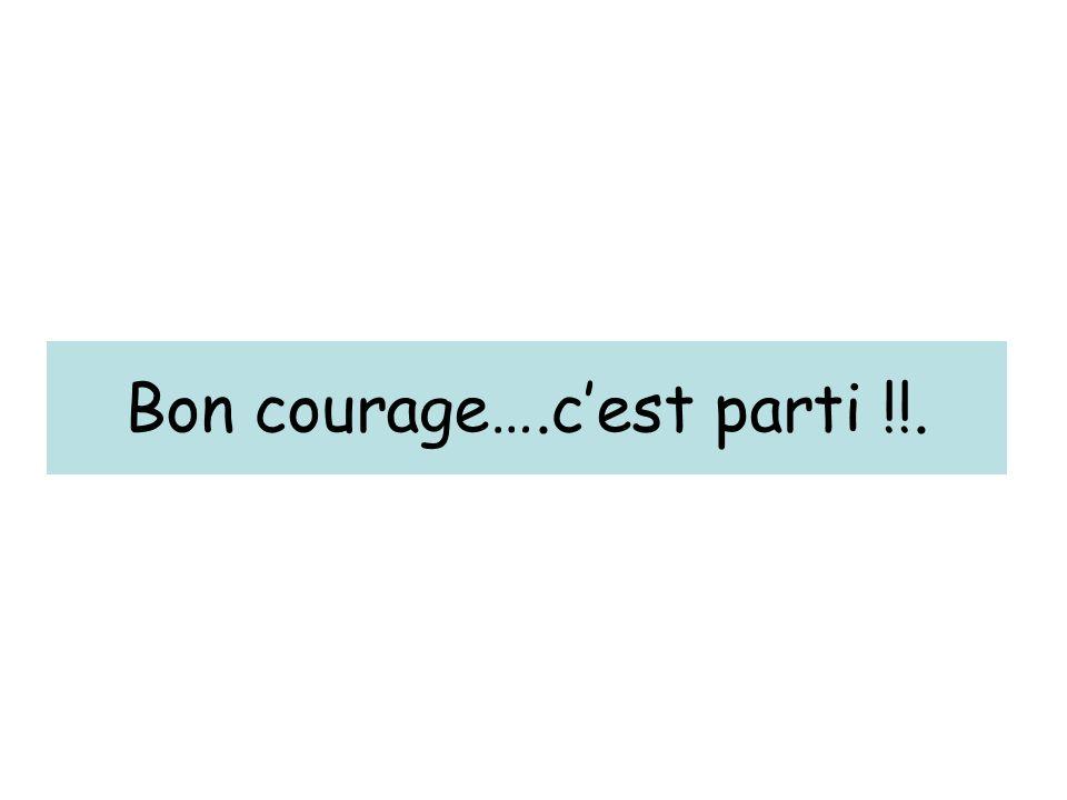 Bon courage….c'est parti !!.