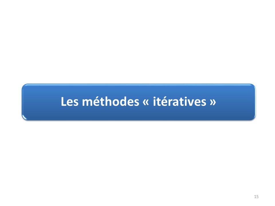 Les méthodes « itératives » 15