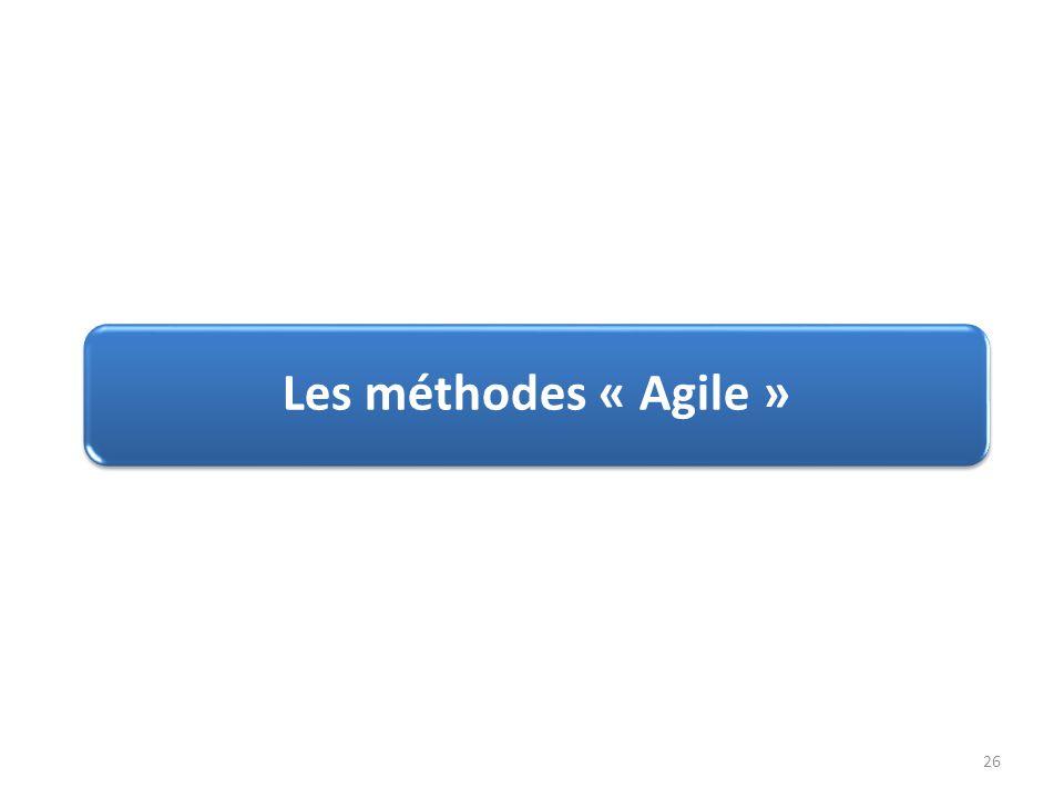 Les méthodes « Agile » 26