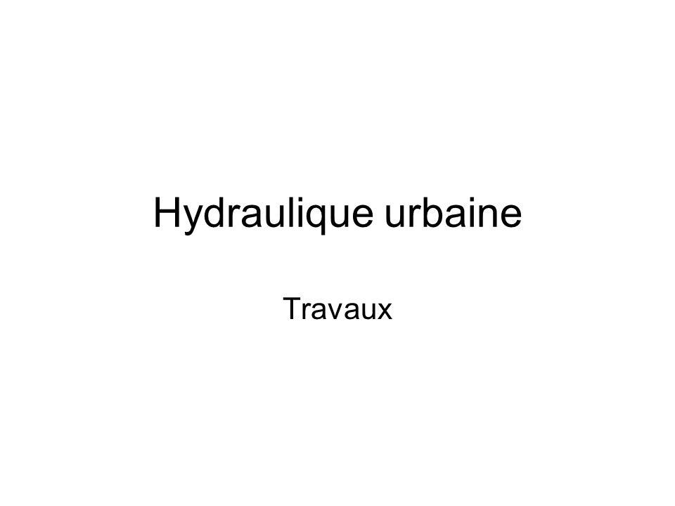 Hydraulique urbaine Travaux