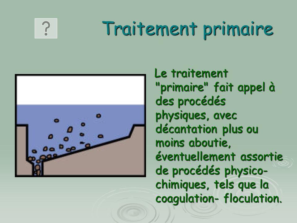 Traitement primaire Le traitement
