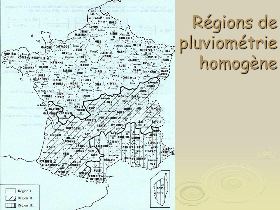 Régions de pluviométrie homogène