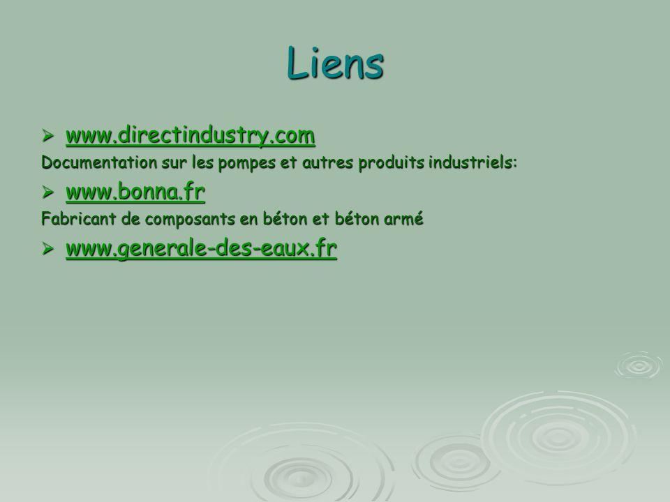 Liens  www.directindustry.com www.directindustry.com Documentation sur les pompes et autres produits industriels:  www.bonna.fr www.bonna.fr Fabrica