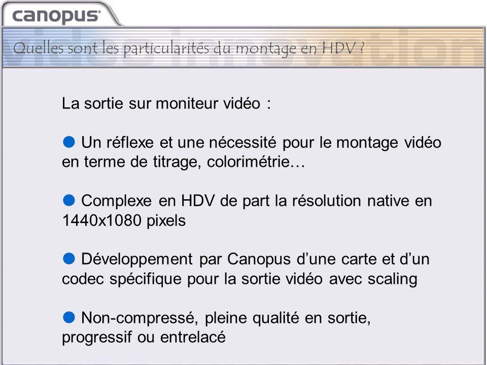 CIM 2003 Brand and Strategy La sortie sur moniteur vidéo :  Un réflexe et une nécessité pour le montage vidéo en terme de titrage, colorimétrie…  Co