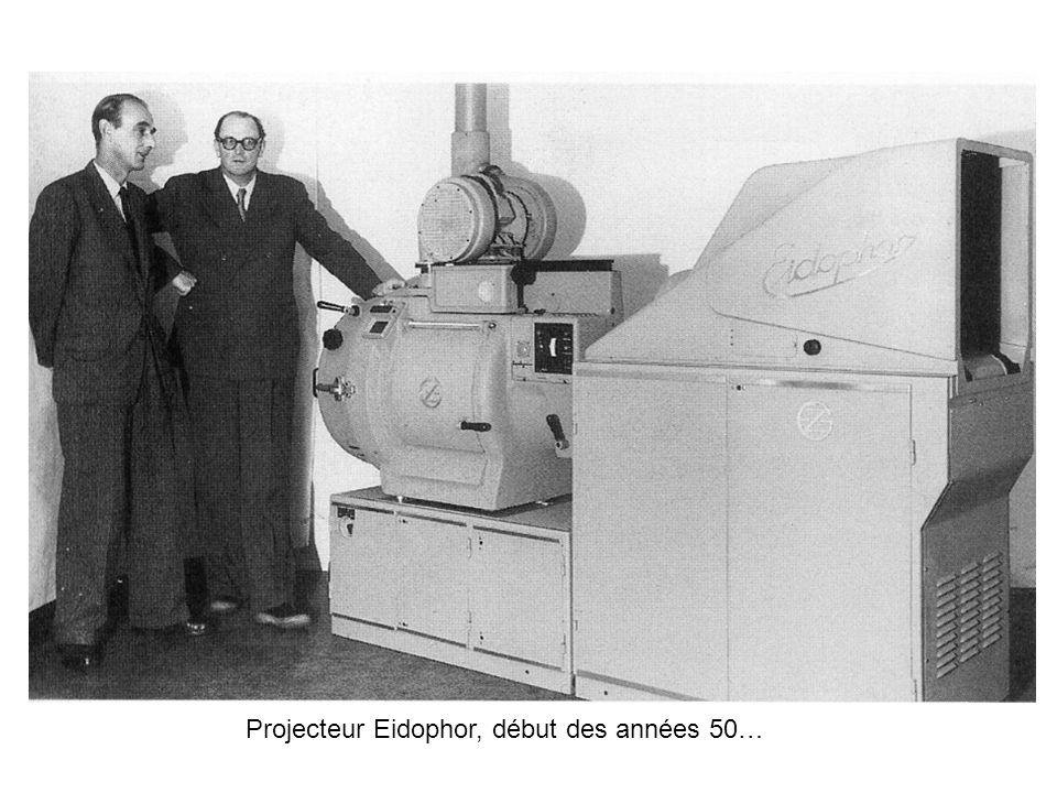 Projecteur Eidophor, début des années 50…