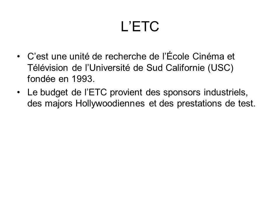 L'ETC C'est une unité de recherche de l'École Cinéma et Télévision de l'Université de Sud Californie (USC) fondée en 1993. Le budget de l'ETC provient