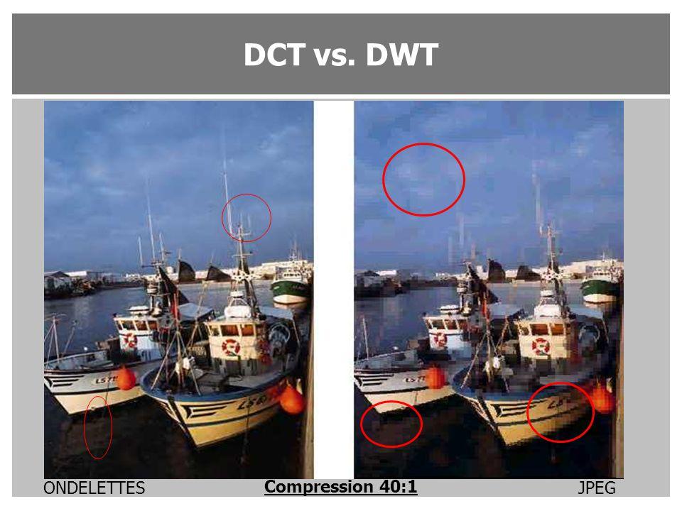 Compression 40:1 JPEG ONDELETTES DCT vs. DWT