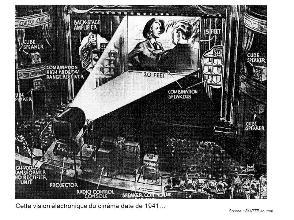 Cette vision électronique du cinéma date de 1941… Source : SMPTE Journal