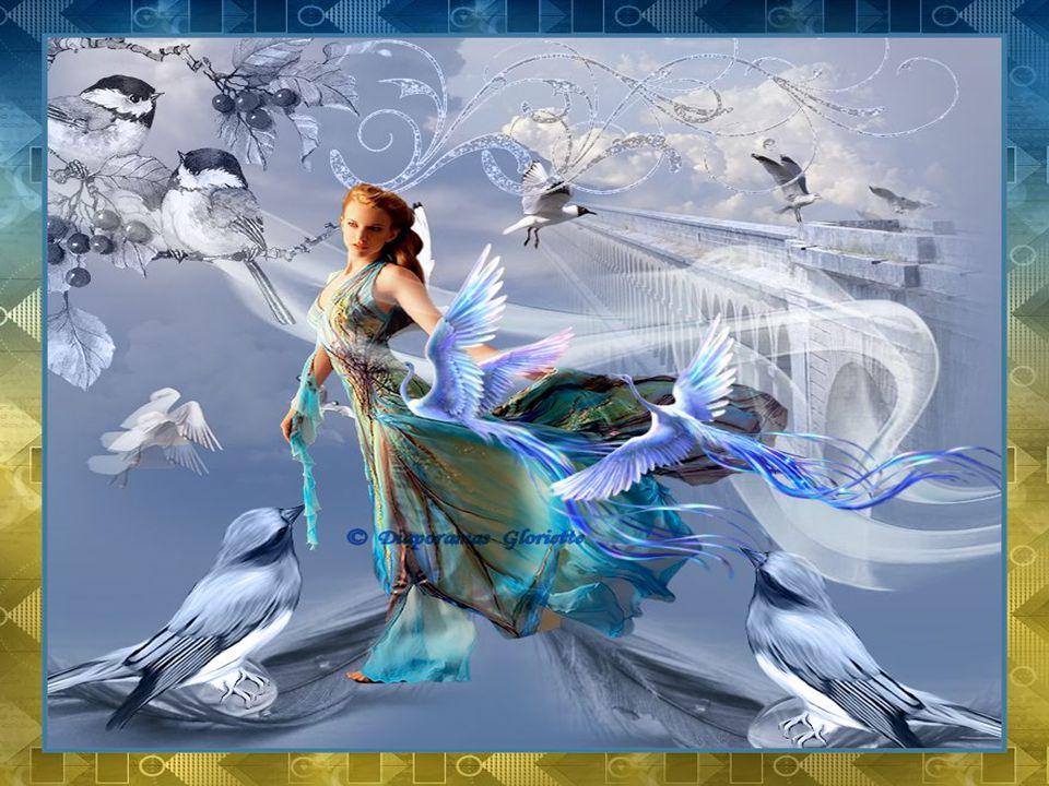 J'aimerais voyager comme l'oiseau Et sentir le duvet sur ma peau Voler un peu d'éternité au temps Marcher d'un pas léger parmi le vent Ginette