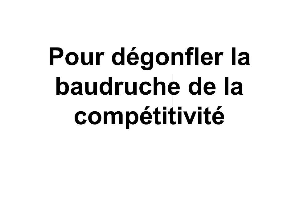 Pour dégonfler la baudruche de la compétitivité