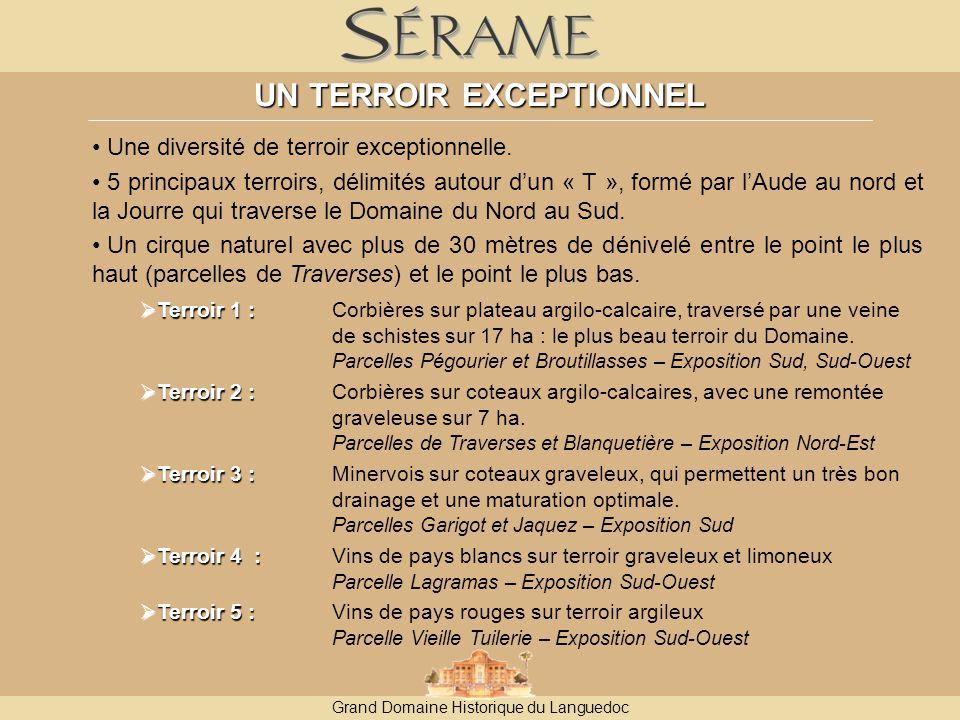 Grand Domaine Historique du Languedoc UN TERROIR EXCEPTIONNEL Une diversité de terroir exceptionnelle.