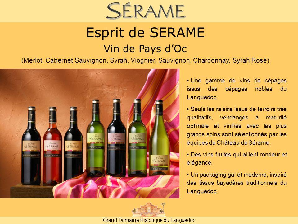 Grand Domaine Historique du Languedoc Une gamme de vins de cépages issus des cépages nobles du Languedoc.