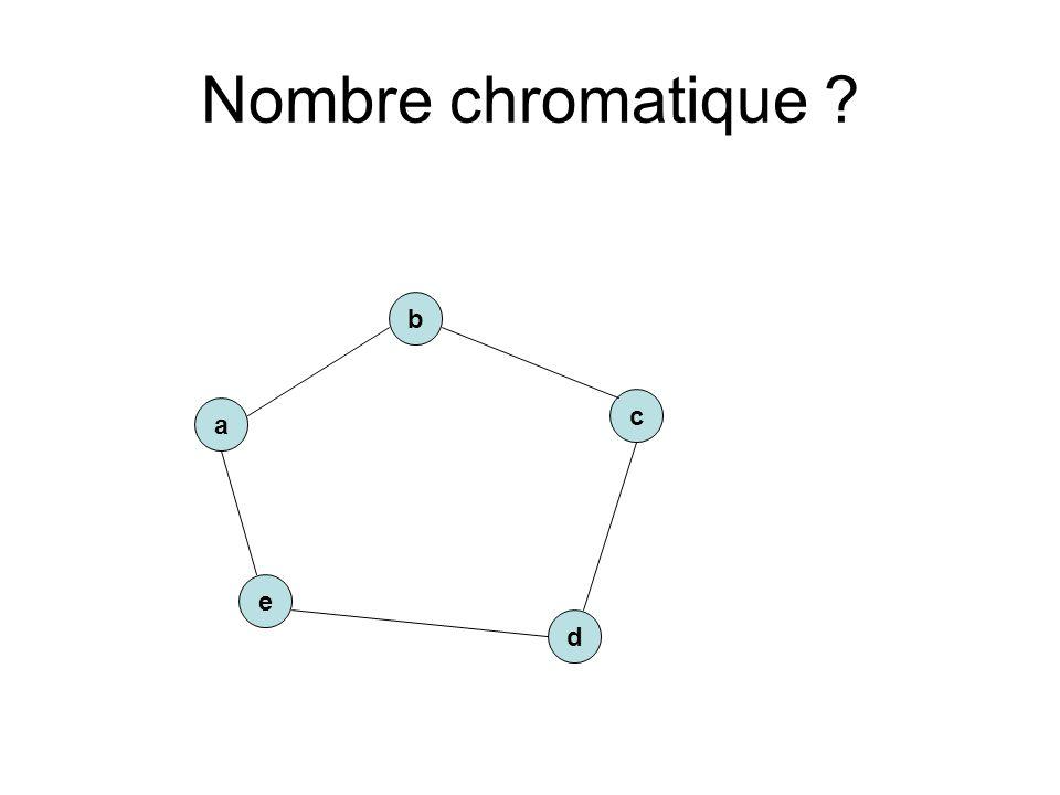 Nombre chromatique ? a e c b d