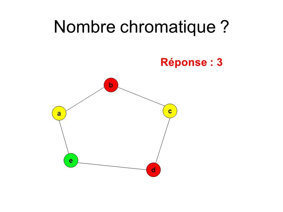 a e c b d Réponse : 3