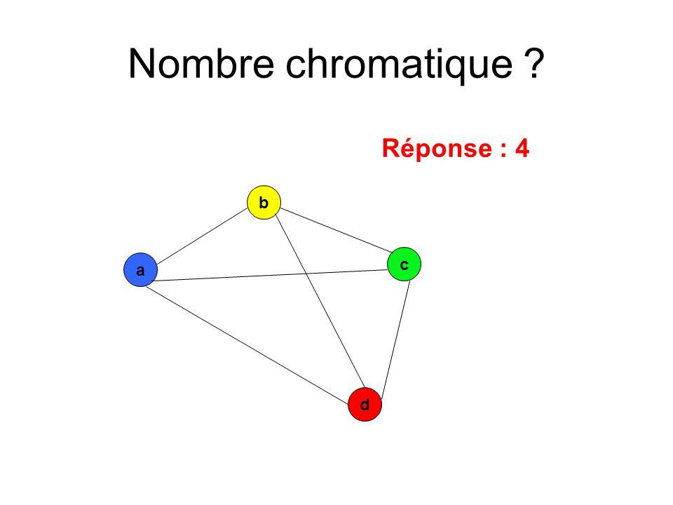 a c b d Réponse : 4
