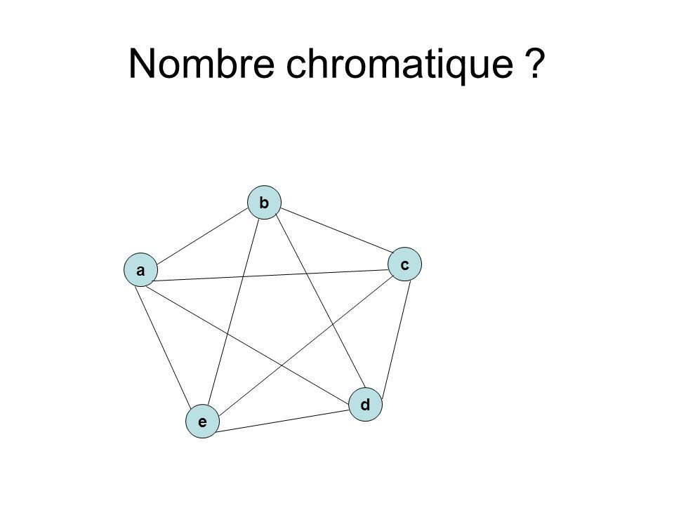 Nombre chromatique ? a c b d e