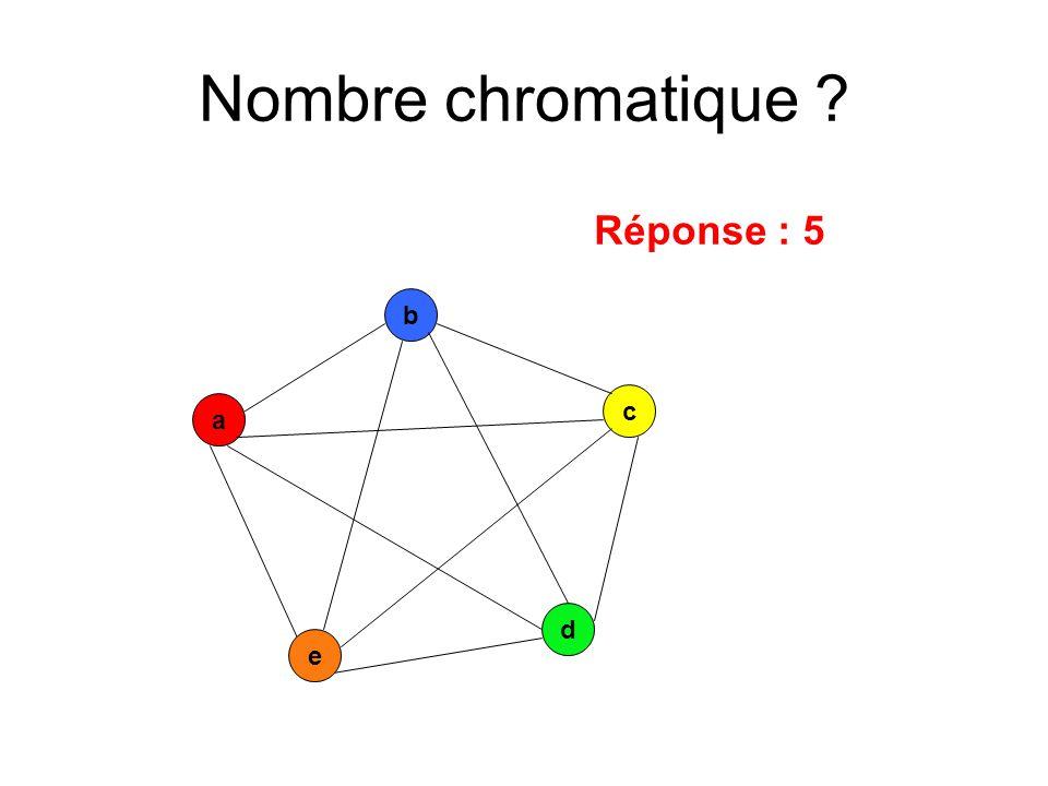 a c b d e Réponse : 5