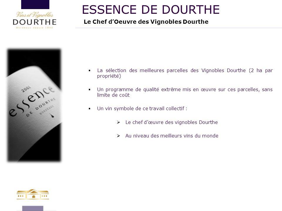  La sélection des meilleures parcelles des Vignobles Dourthe (2 ha par propriété)  Un programme de qualité extrême mis en œuvre sur ces parcelles, s