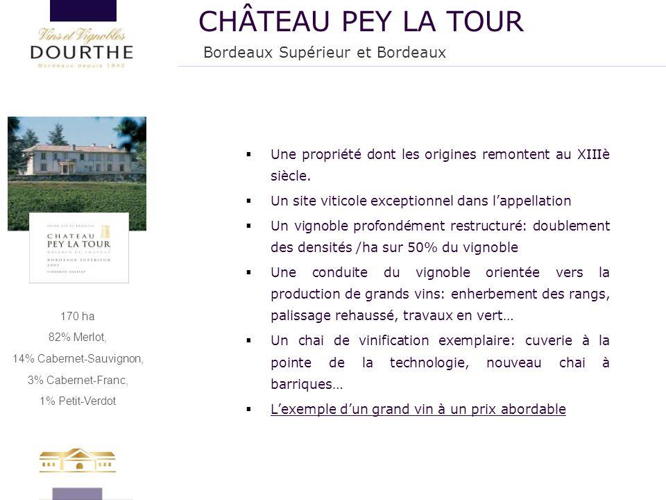 170 ha 82% Merlot, 14% Cabernet-Sauvignon, 3% Cabernet-Franc, 1% Petit-Verdot  Une propriété dont les origines remontent au XIIIè siècle.  Un site v