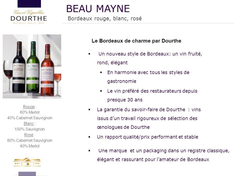  Un nouveau style de Bordeaux: un vin fruité, rond, élégant  En harmonie avec tous les styles de gastronomie  Le vin préféré des restaurateurs depu