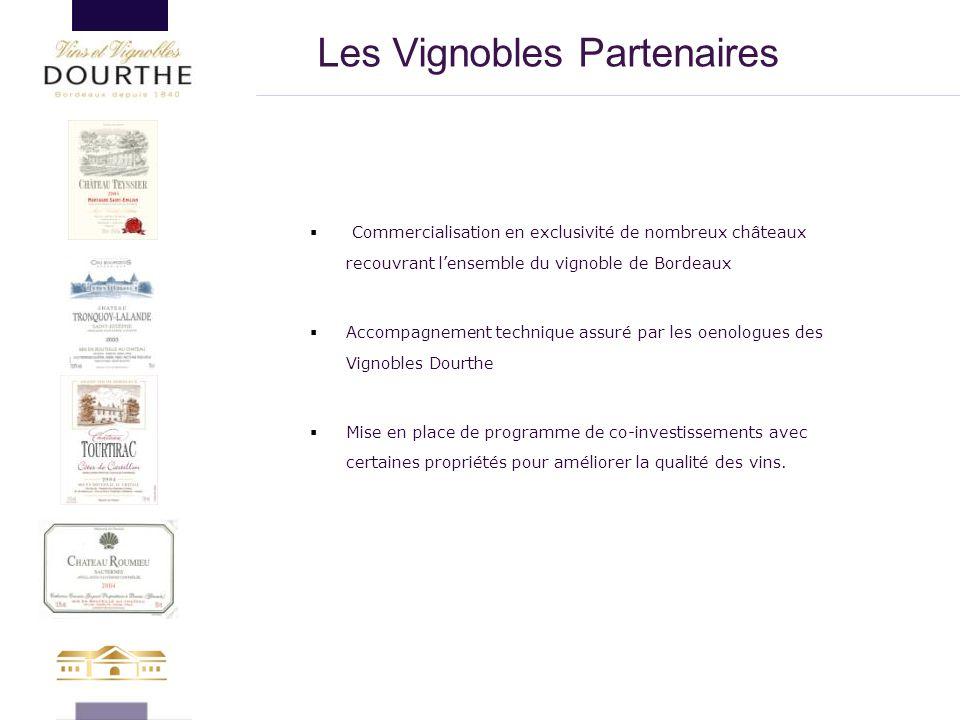  Commercialisation en exclusivité de nombreux châteaux recouvrant l'ensemble du vignoble de Bordeaux  Accompagnement technique assuré par les oenolo