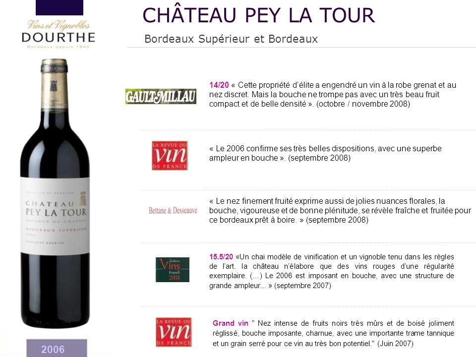 2006 15.5/20 «Un chai modèle de vinification et un vignoble tenu dans les règles de l'art. la château n'élabore que des vins rouges d'une régularité e