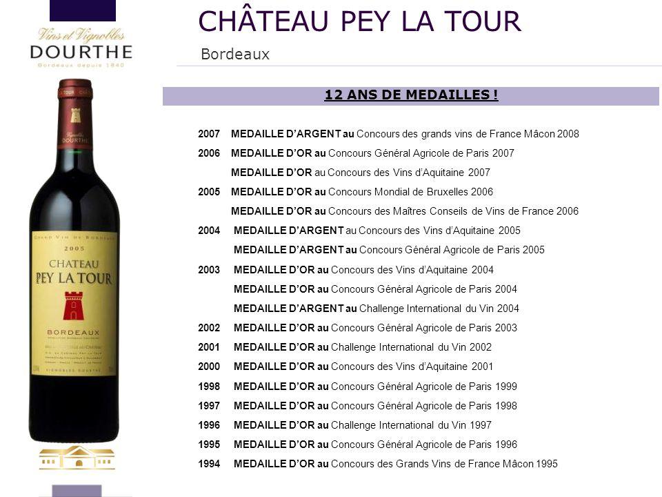 2007MEDAILLE D'ARGENT au Concours des grands vins de France Mâcon 2008 2006MEDAILLE D'OR au Concours Général Agricole de Paris 2007 MEDAILLE D'OR au C