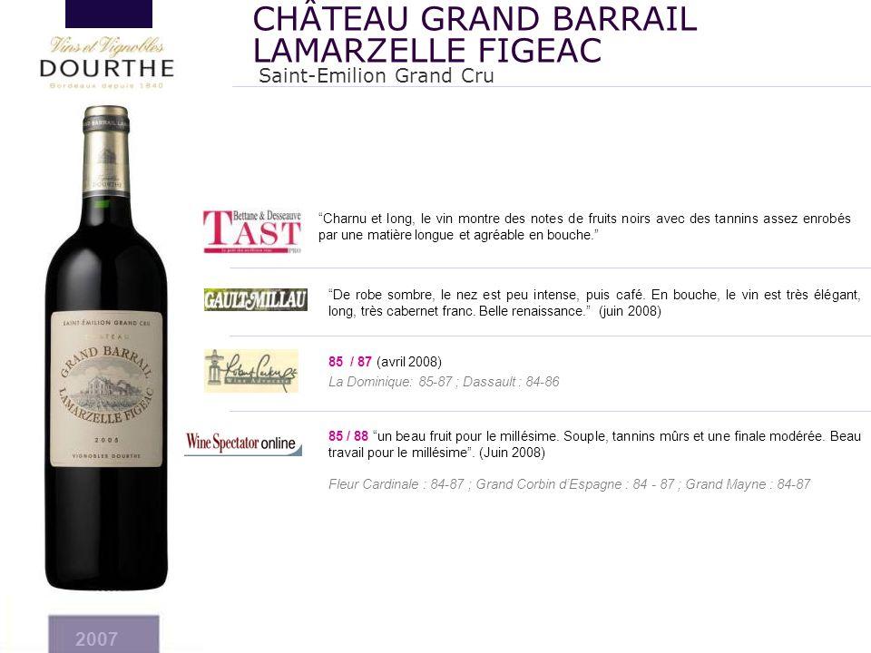"""""""Charnu et long, le vin montre des notes de fruits noirs avec des tannins assez enrobés par une matière longue et agréable en bouche."""" 2007 Saint-Emil"""