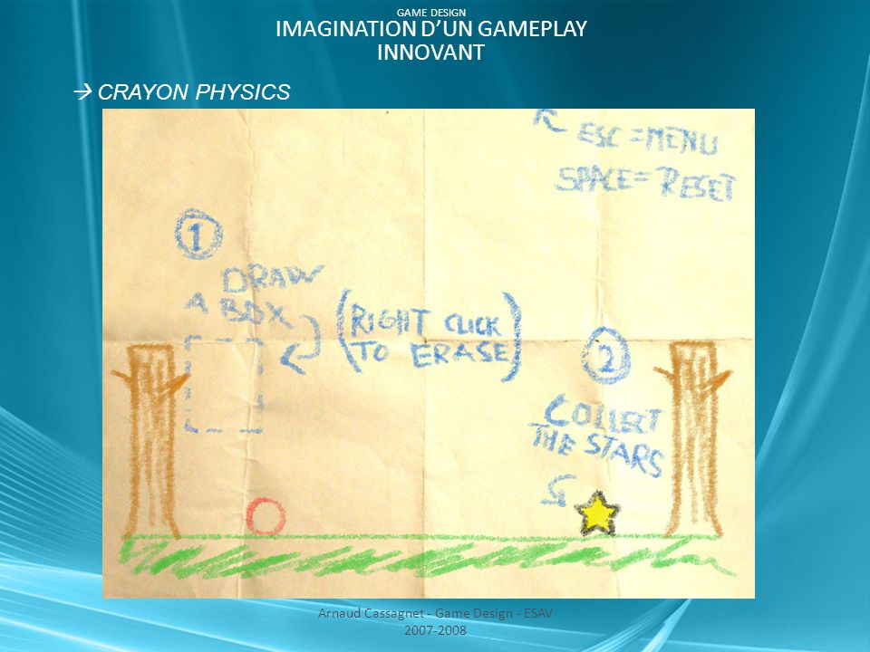 GAME DESIGN IMAGINATION D'UN GAMEPLAY INNOVANT  CRAYON PHYSICS