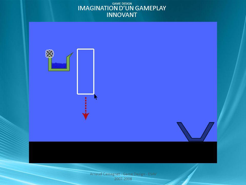 Arnaud Cassagnet - Game Design - ESAV 2007-2008 GAME DESIGN IMAGINATION D'UN GAMEPLAY INNOVANT