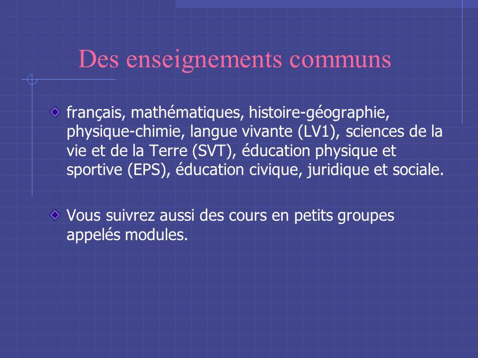 La 2de générale et technologique Au programme : Des enseignements communs Des enseignements de détermination Une option facultative