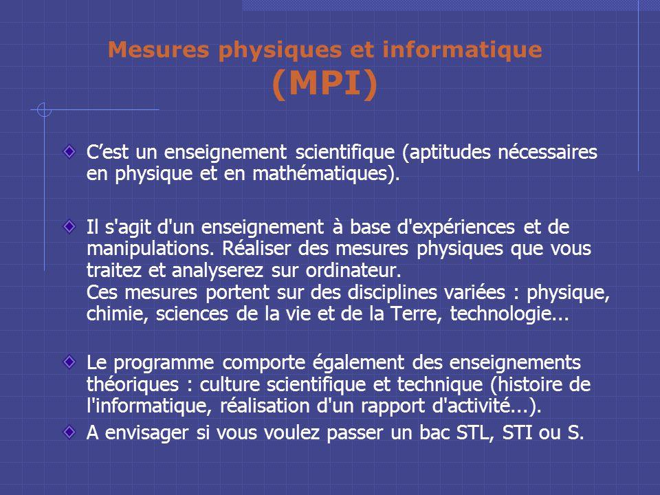 Informatique et systèmes de production (ISP) Un enseignement pour préparer le bac sciences et technologies industrielles (STI). A choisir en complémen