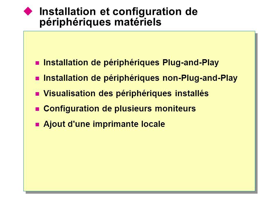 Installation de périphériques Plug-and-Play 11 Connectez le périphérique à votre ordinateur 22 Windows installe automatiquement le périphérique 33 Vous pouvez commencer à utiliser le périphérique