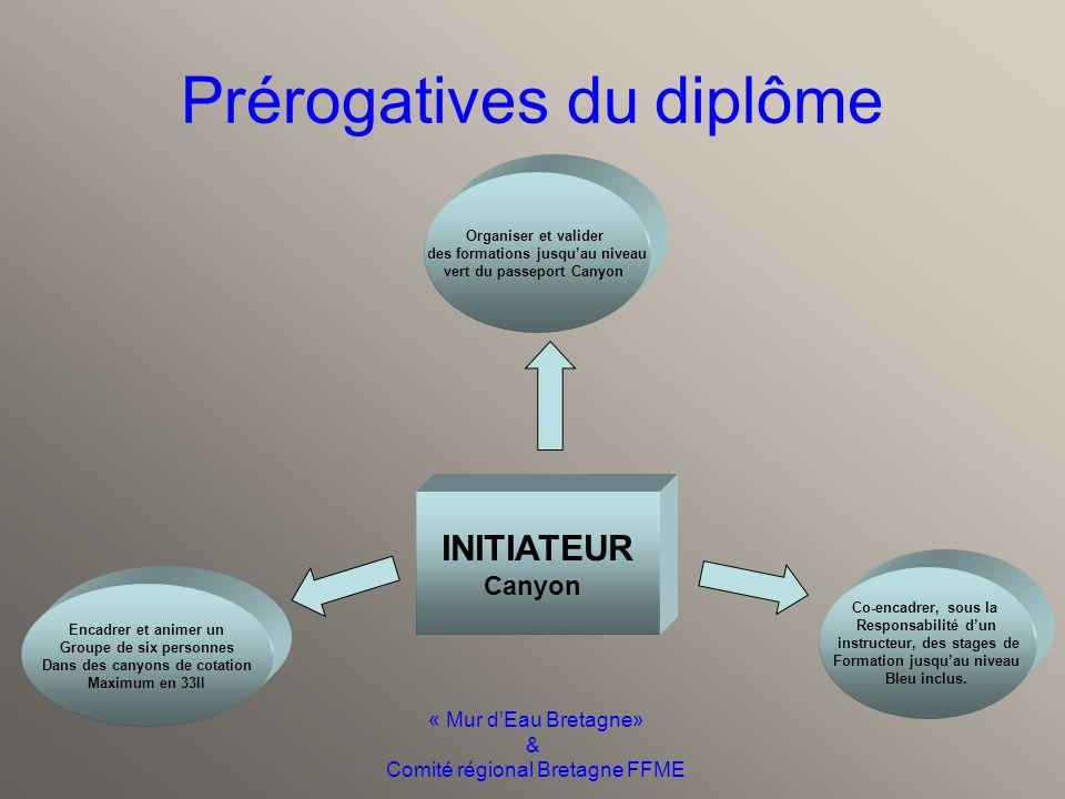 « Mur d'Eau Bretagne» & Comité régional Bretagne FFME Contacts Laurent BOERO 0663399330 Sites Web: Centre de Formation Canyon Réseau Mur d'Eau
