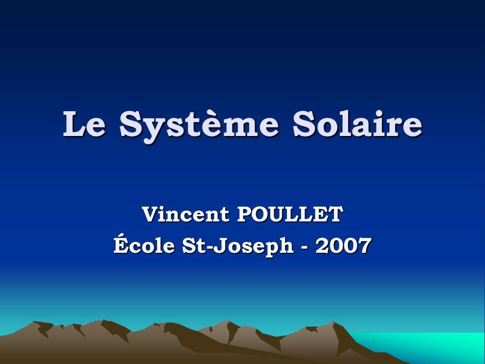 Le Système Solaire Vincent POULLET École St-Joseph - 2007