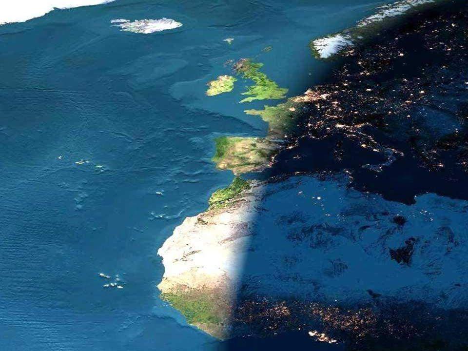 Phénomènes terrestres Alternance jour / nuit Le fait que la partie de la Terre où nous vivons passe, chaque jour, de l'ombre à la lumière est dû à la