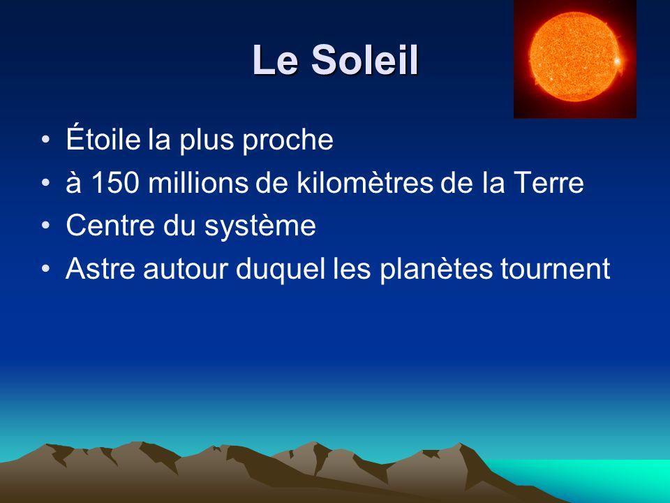 Les planètes telluriques Sont semblables à la Terre Elles ont la même composition : fer et roches Ce sont les quatre planètes les plus proches du soleil Elles sont aussi les plus petites du système
