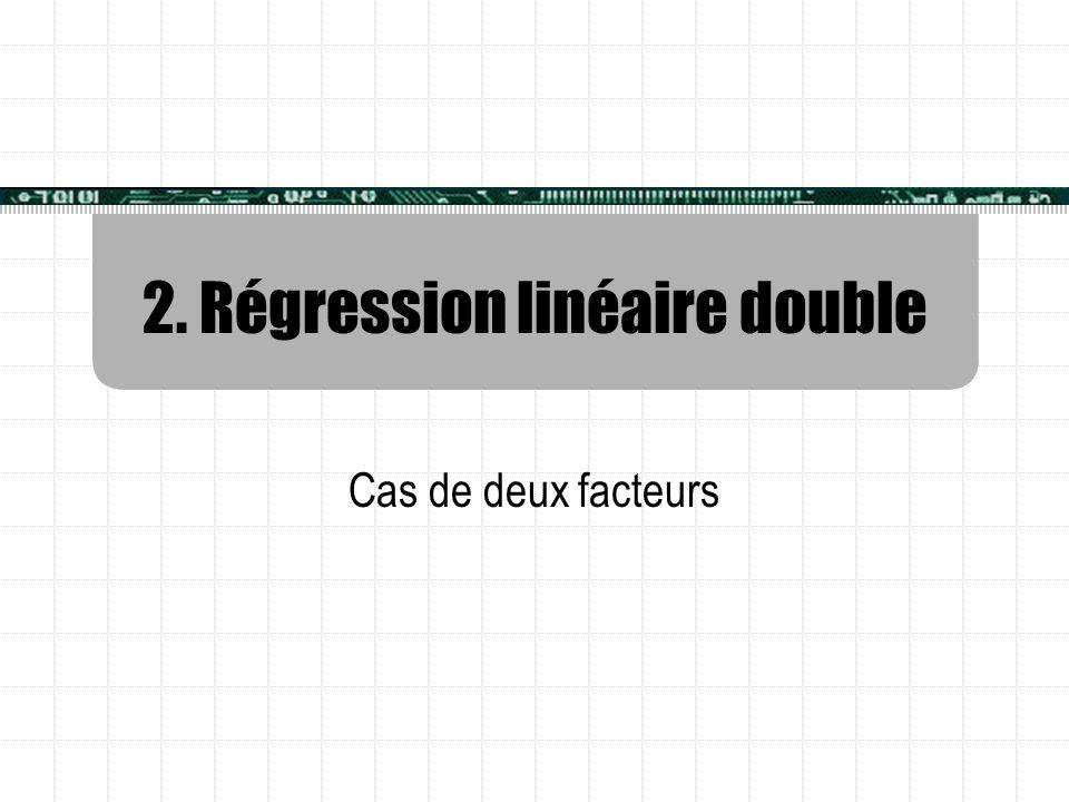 2. Régression linéaire double Cas de deux facteurs