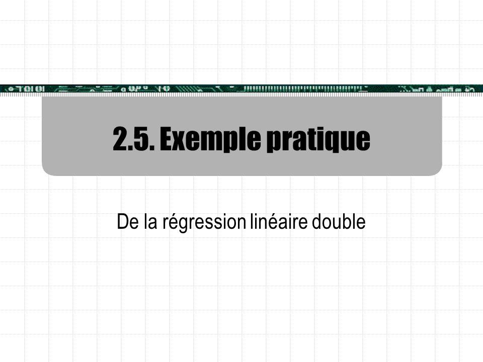 2.5. Exemple pratique De la régression linéaire double